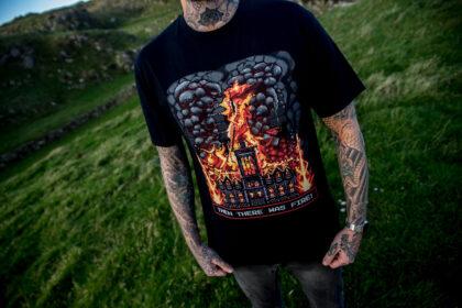 Burning church tee